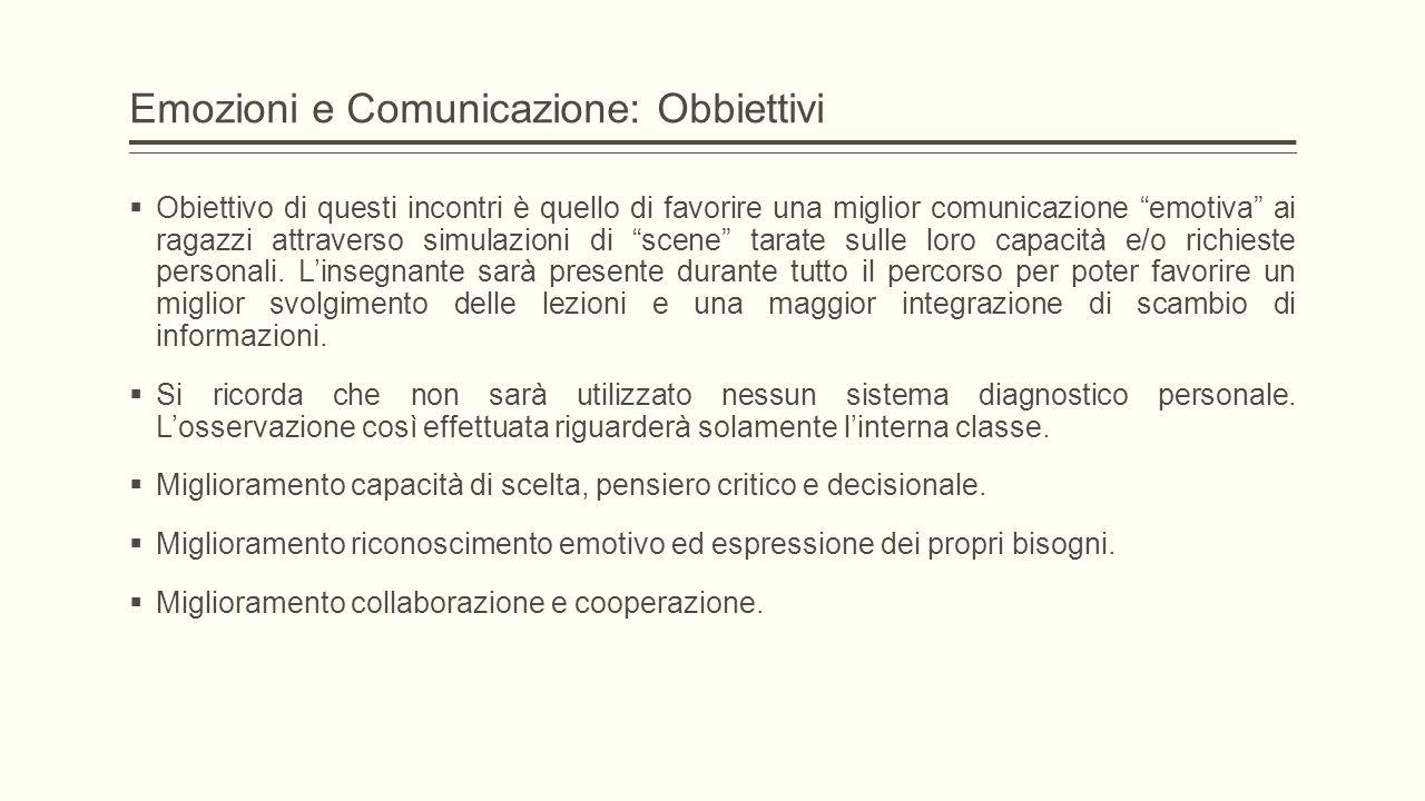 Emozioni e Comunicazione: Obbiettivi