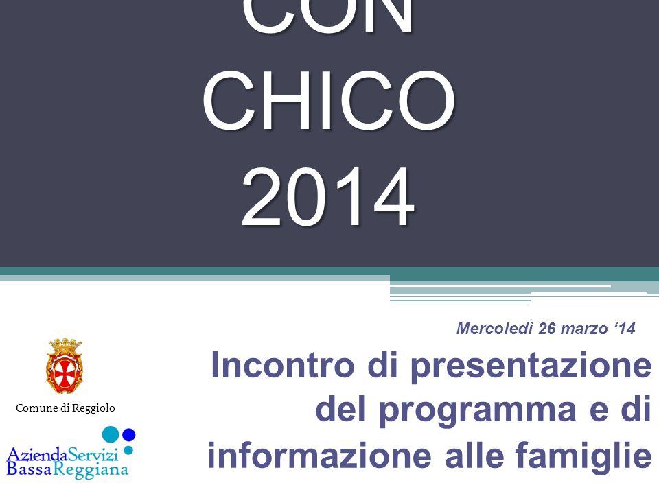 GIOCA CON CHICO 2014 Incontro di presentazione del programma e di