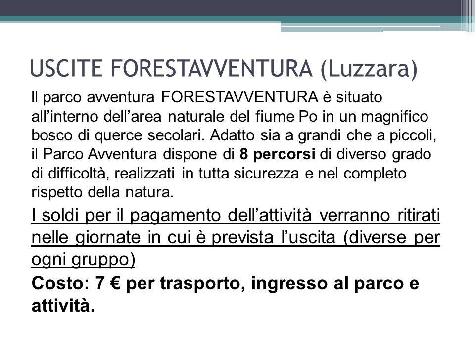 USCITE FORESTAVVENTURA (Luzzara)