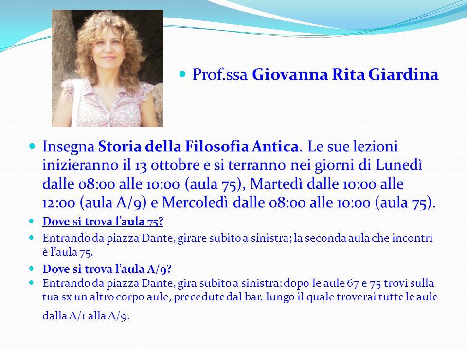 Prof.ssa Giovanna Rita Giardina