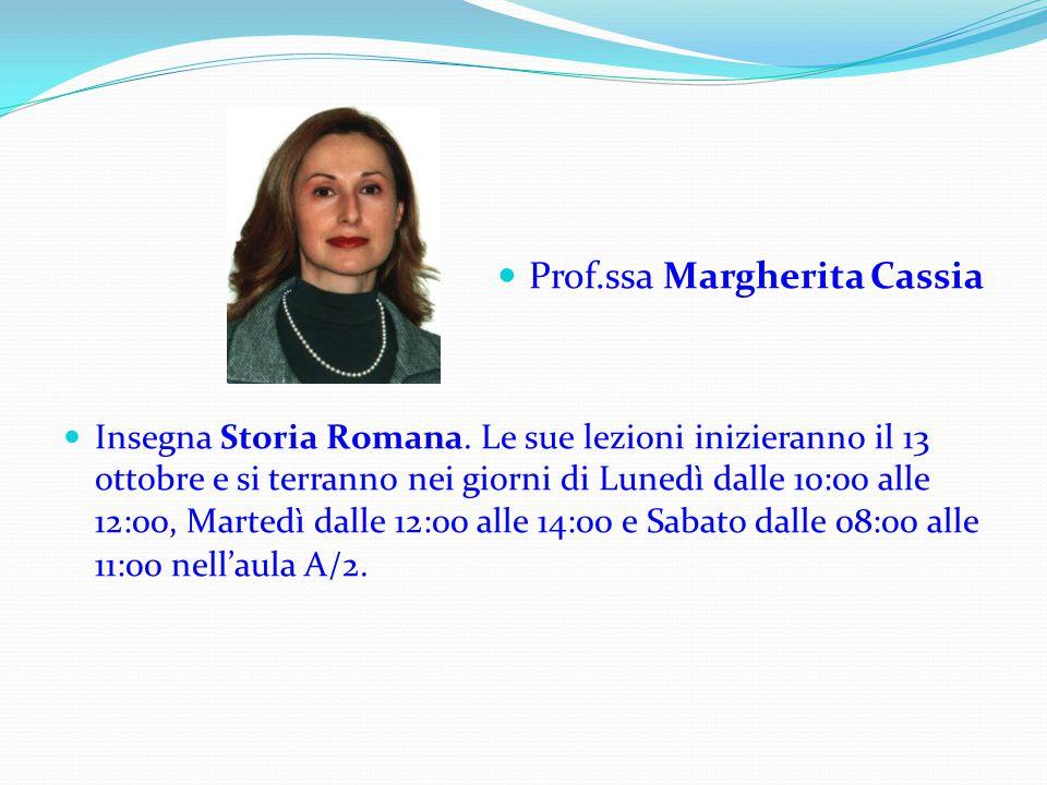 Prof.ssa Margherita Cassia