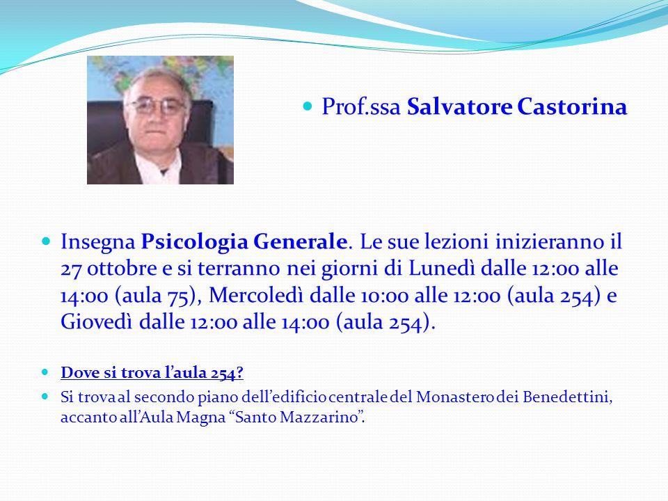 Prof.ssa Salvatore Castorina
