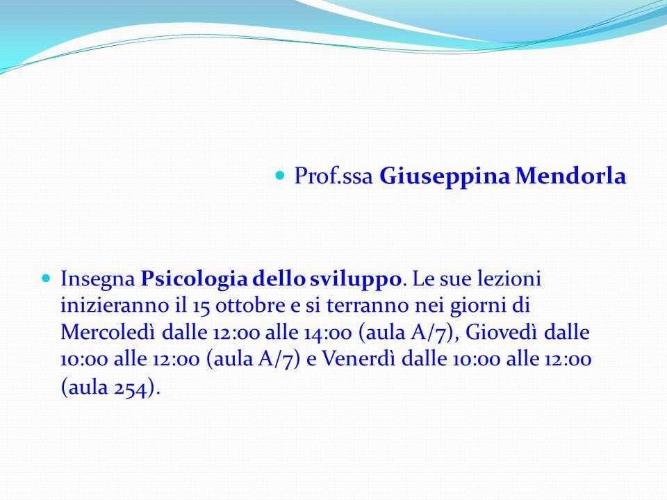 Prof.ssa Giuseppina Mendorla