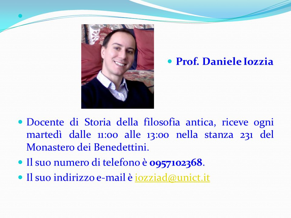 Prof. Daniele Iozzia.