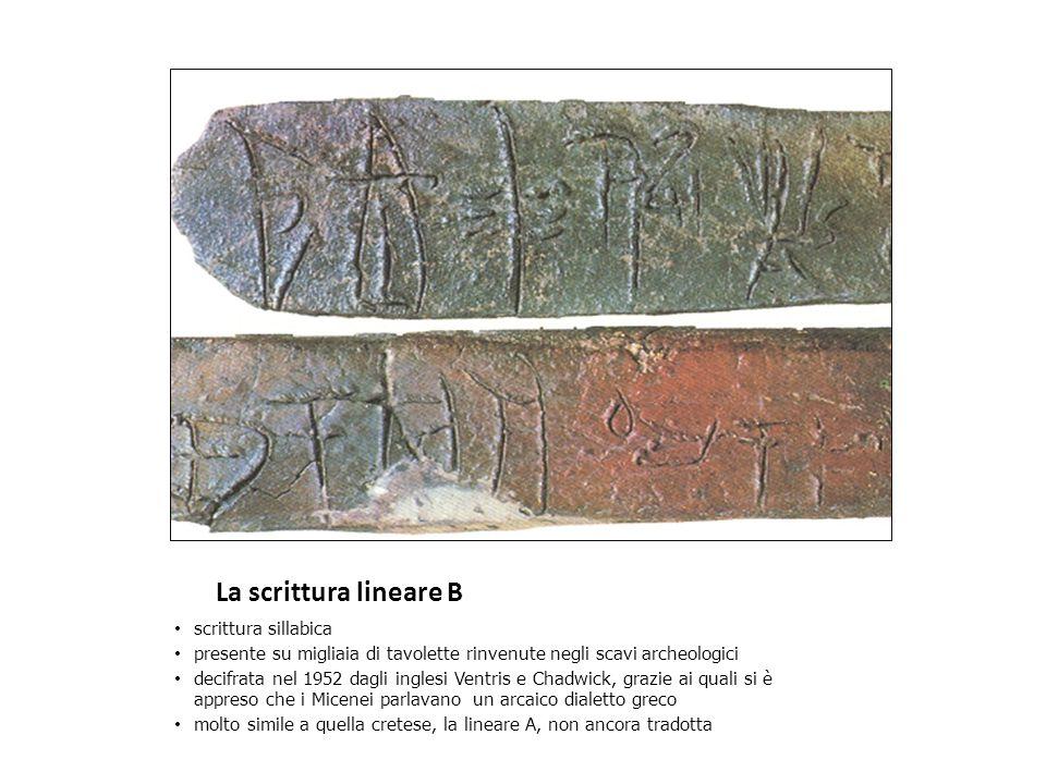 La scrittura lineare B scrittura sillabica