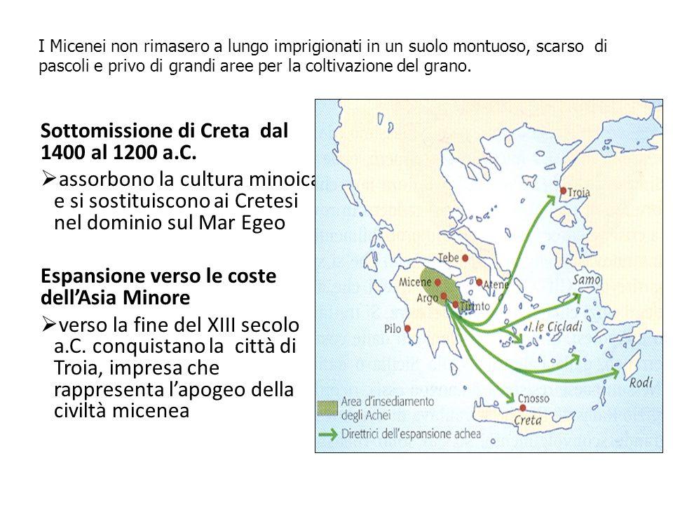 Sottomissione di Creta dal 1400 al 1200 a.C.