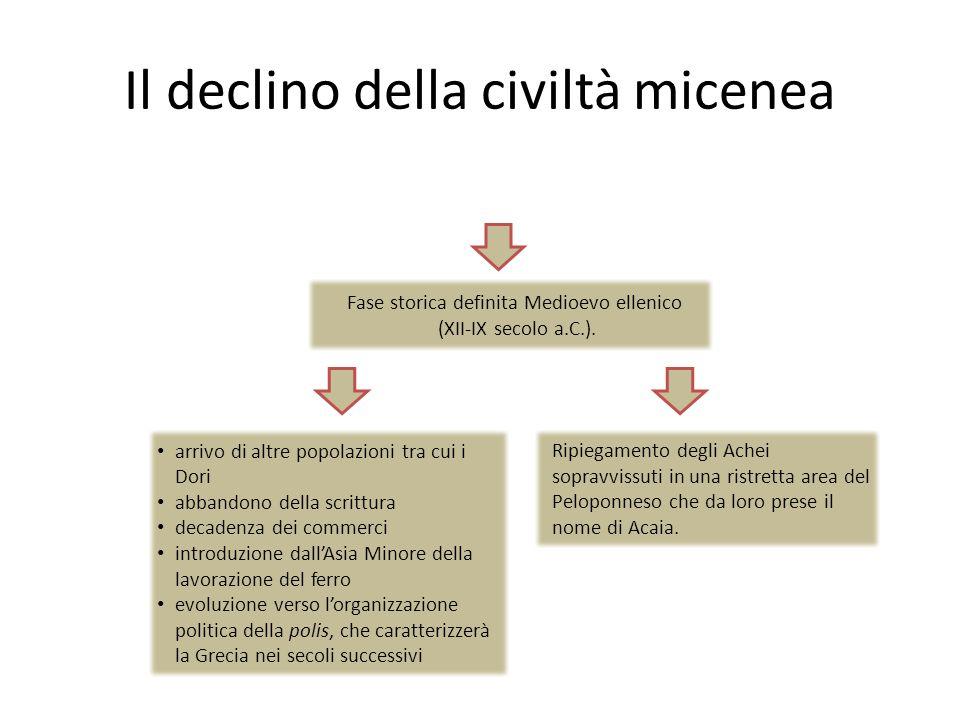 Il declino della civiltà micenea