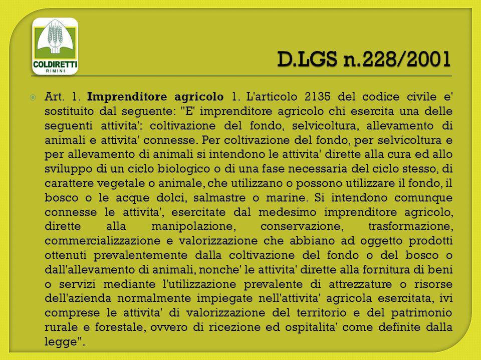 D.LGS n.228/2001