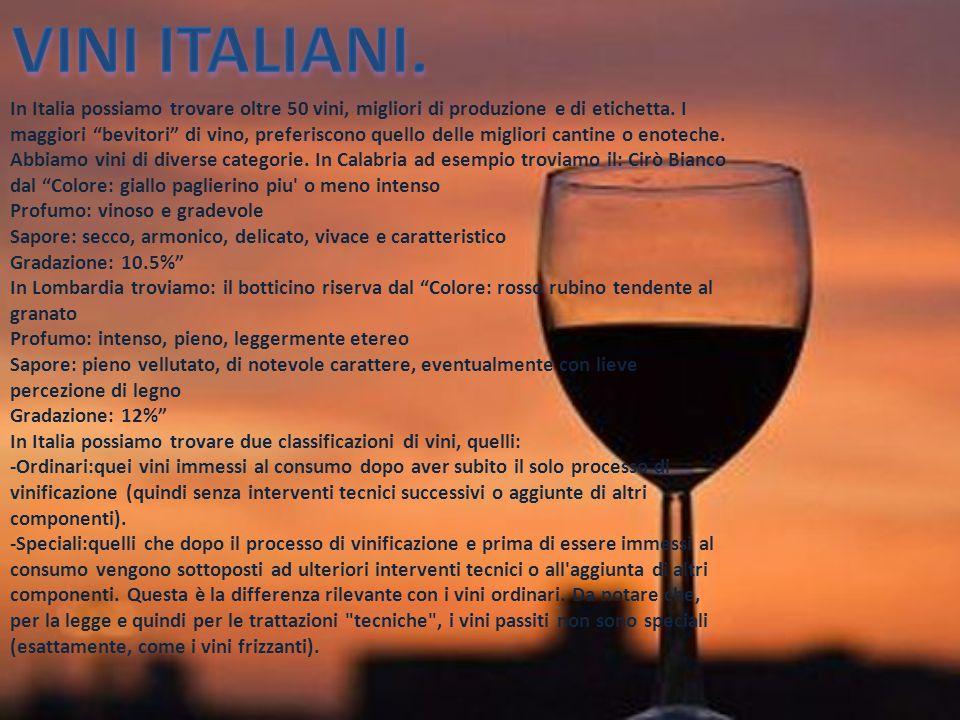 In italia per quanto riguarda i vini abbiamo varie for Aggiunte di legge
