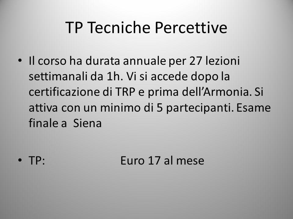 TP Tecniche Percettive