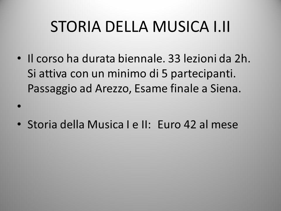 STORIA DELLA MUSICA I.II