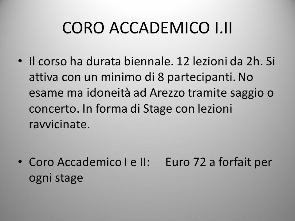 CORO ACCADEMICO I.II