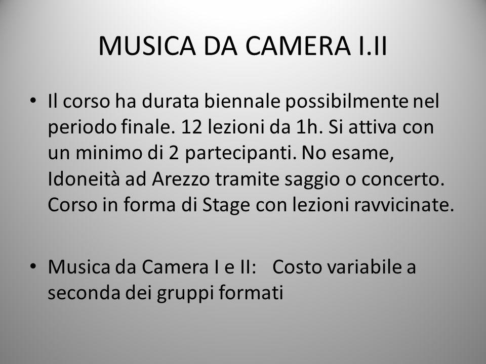 MUSICA DA CAMERA I.II