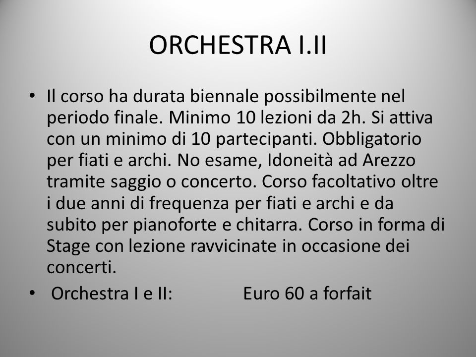 ORCHESTRA I.II