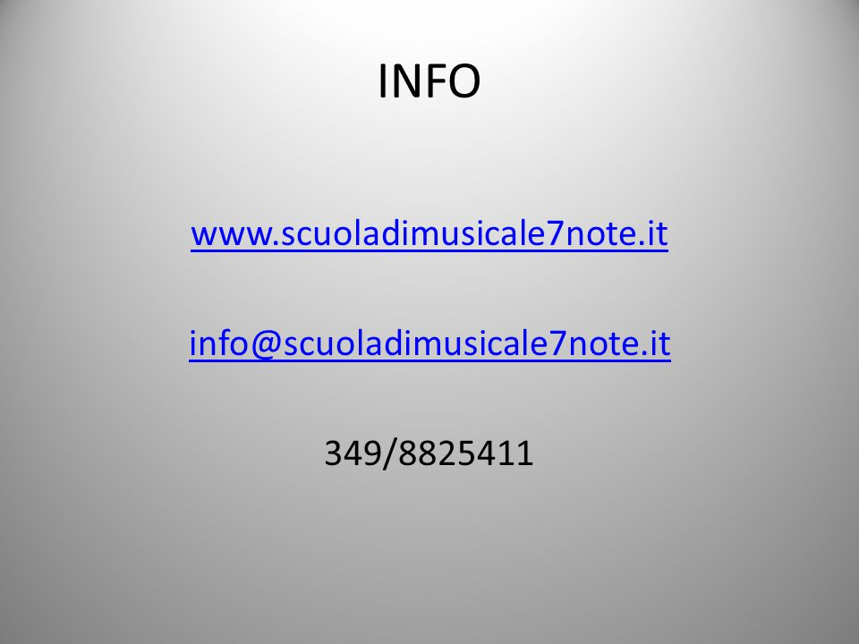 www.scuoladimusicale7note.it info@scuoladimusicale7note.it 349/8825411