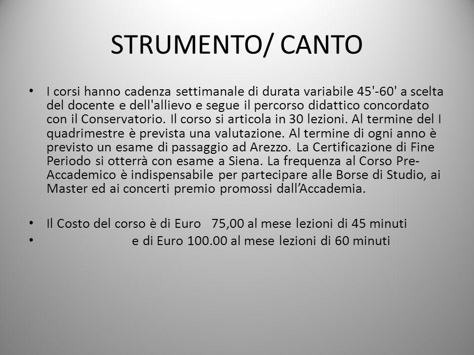 STRUMENTO/ CANTO