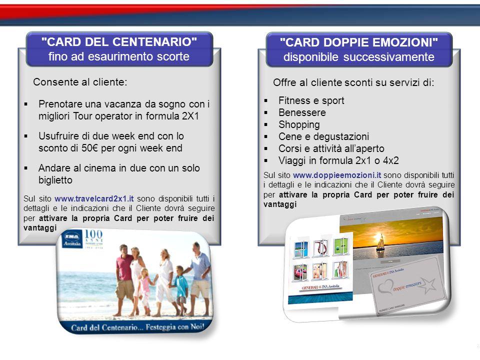 CARD DEL CENTENARIO CARD DOPPIE EMOZIONI