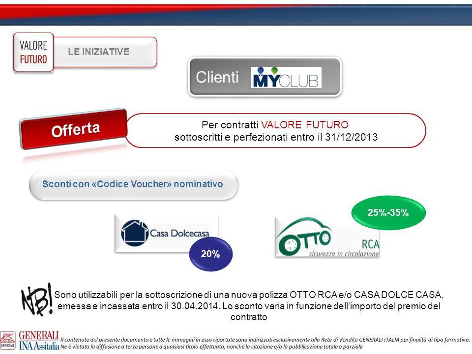 Clienti Offerta Per contratti VALORE FUTURO