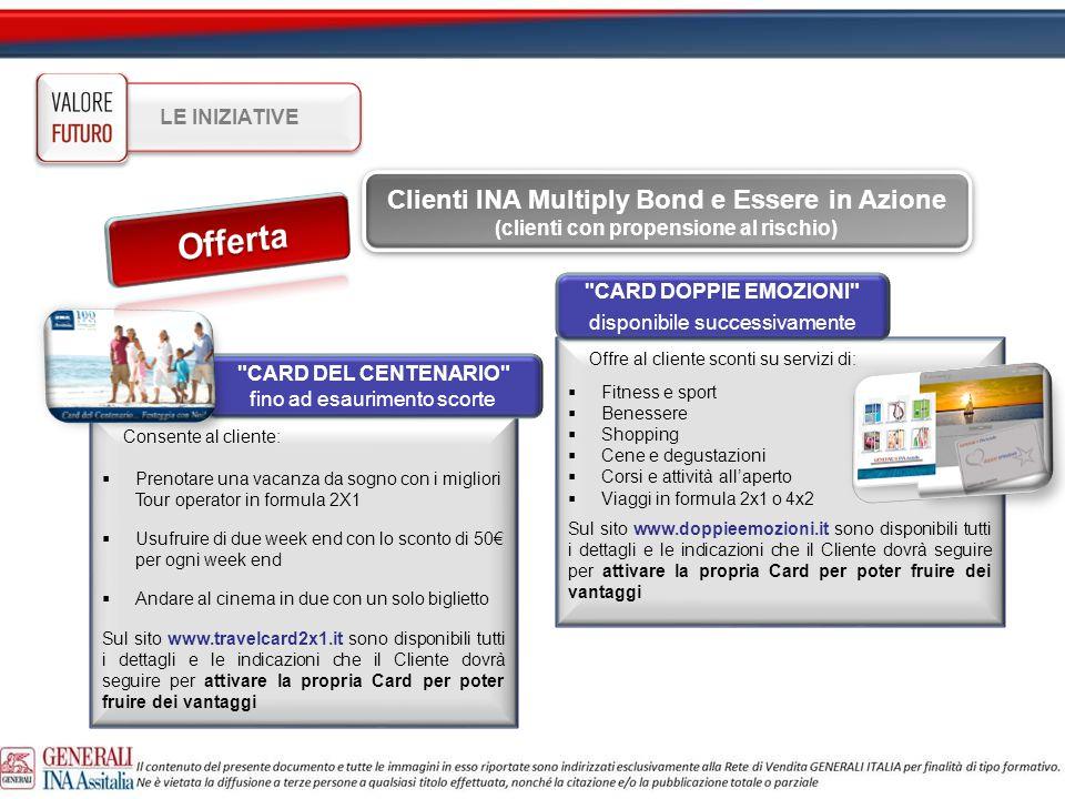 Offerta Clienti INA Multiply Bond e Essere in Azione LE INIZIATIVE
