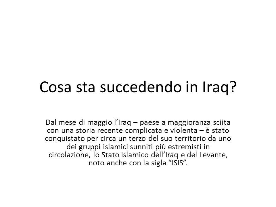 Cosa sta succedendo in Iraq