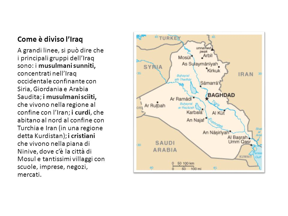 Come è diviso l'Iraq