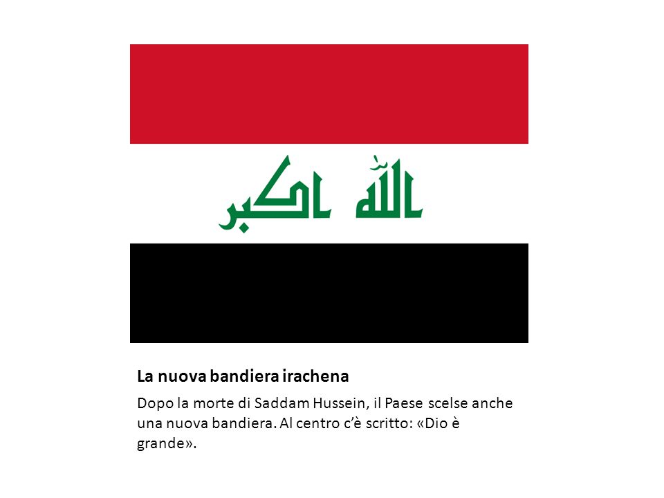 La nuova bandiera irachena