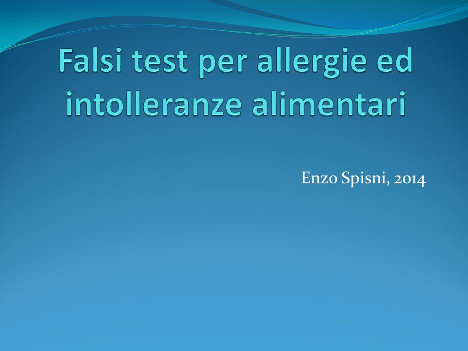 Falsi test per allergie ed intolleranze alimentari
