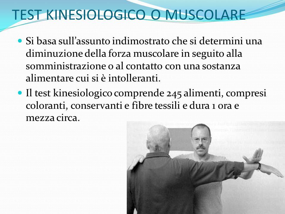 TEST KINESIOLOGICO O MUSCOLARE