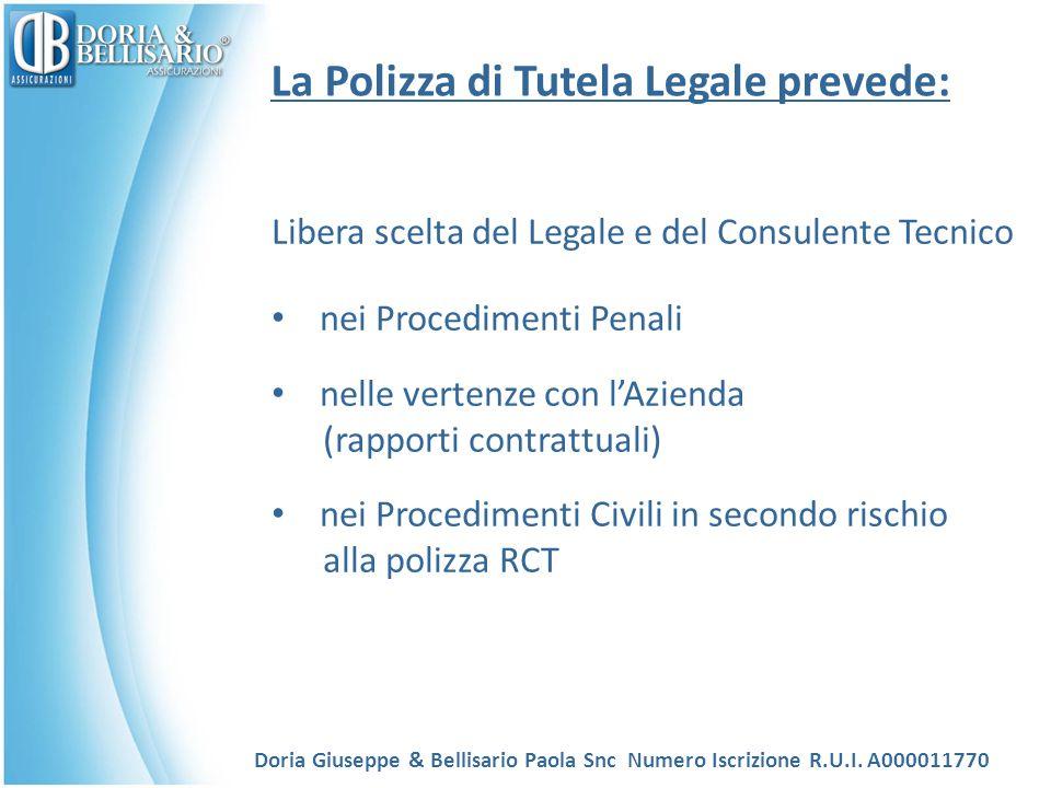 La Polizza di Tutela Legale prevede: