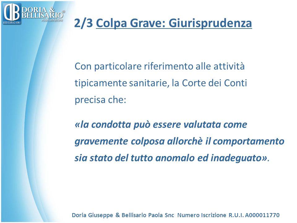 2/3 Colpa Grave: Giurisprudenza