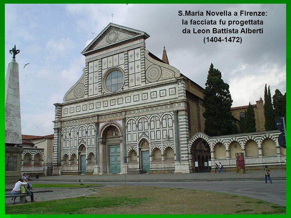 S.Maria Novella a Firenze: la facciata fu progettata