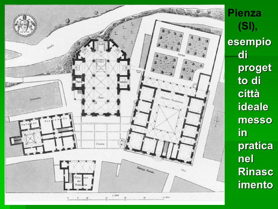 Pienza (SI), esempio di progetto di città ideale messo in pratica nel Rinascimento
