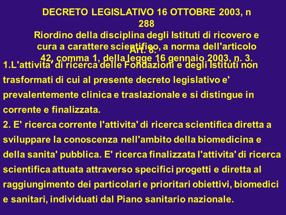 DECRETO LEGISLATIVO 16 OTTOBRE 2003, n 288