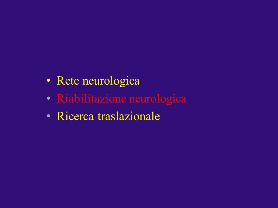 Riabilitazione neurologica Ricerca traslazionale