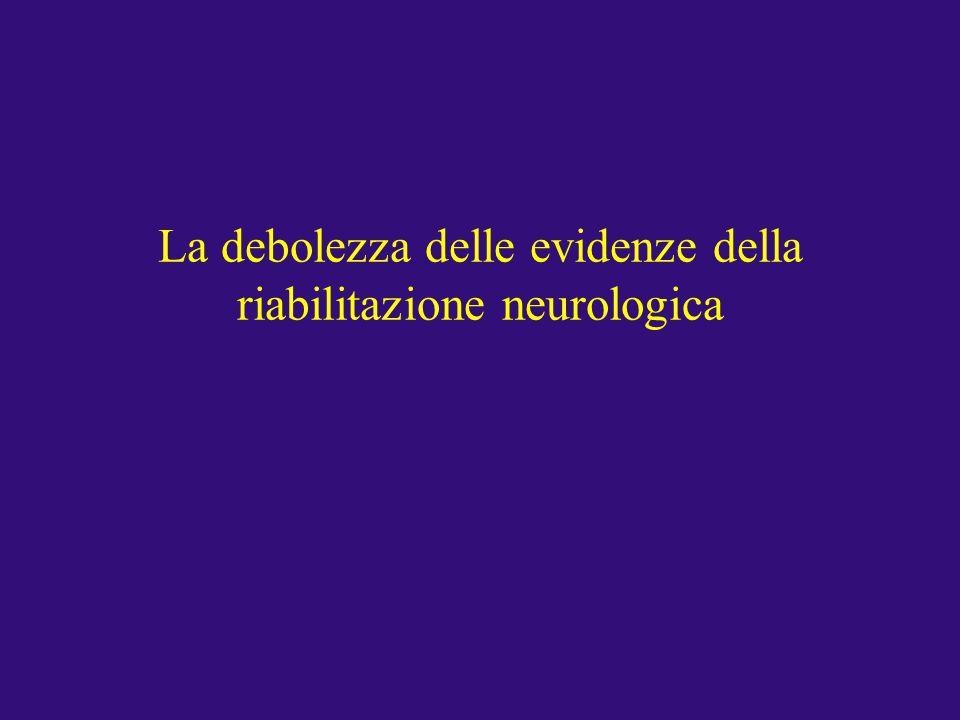 La debolezza delle evidenze della riabilitazione neurologica