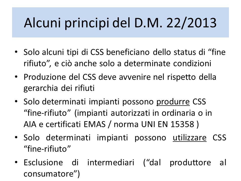 Alcuni principi del D.M. 22/2013