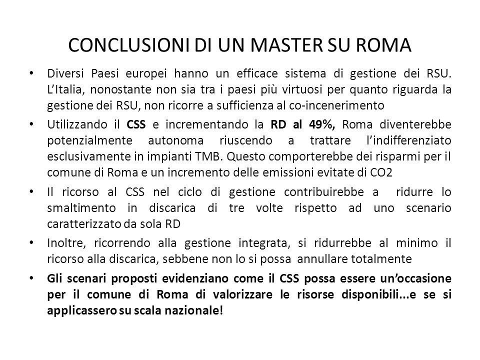CONCLUSIONI DI UN MASTER SU ROMA