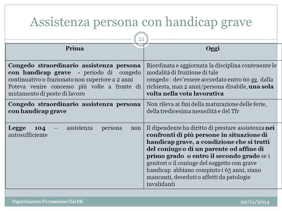 Assistenza persona con handicap grave