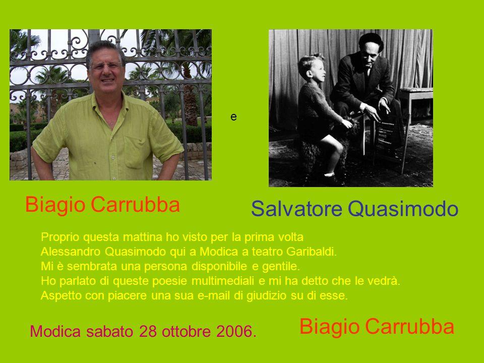Biagio Carrubba Salvatore Quasimodo Biagio Carrubba