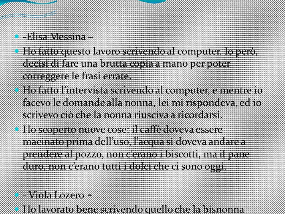-Elisa Messina –