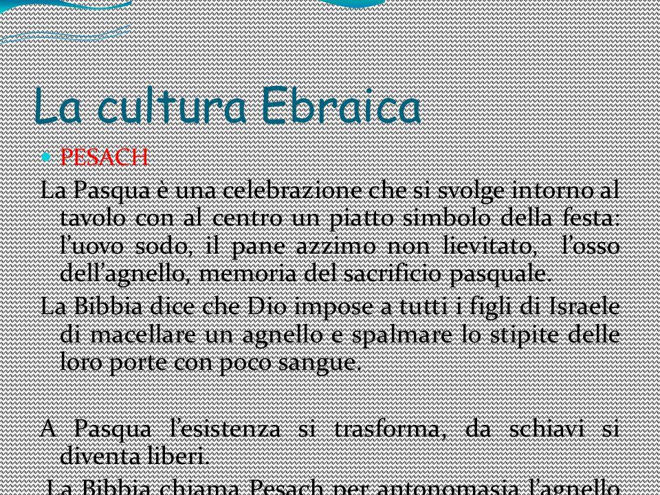 La cultura Ebraica PESACH.