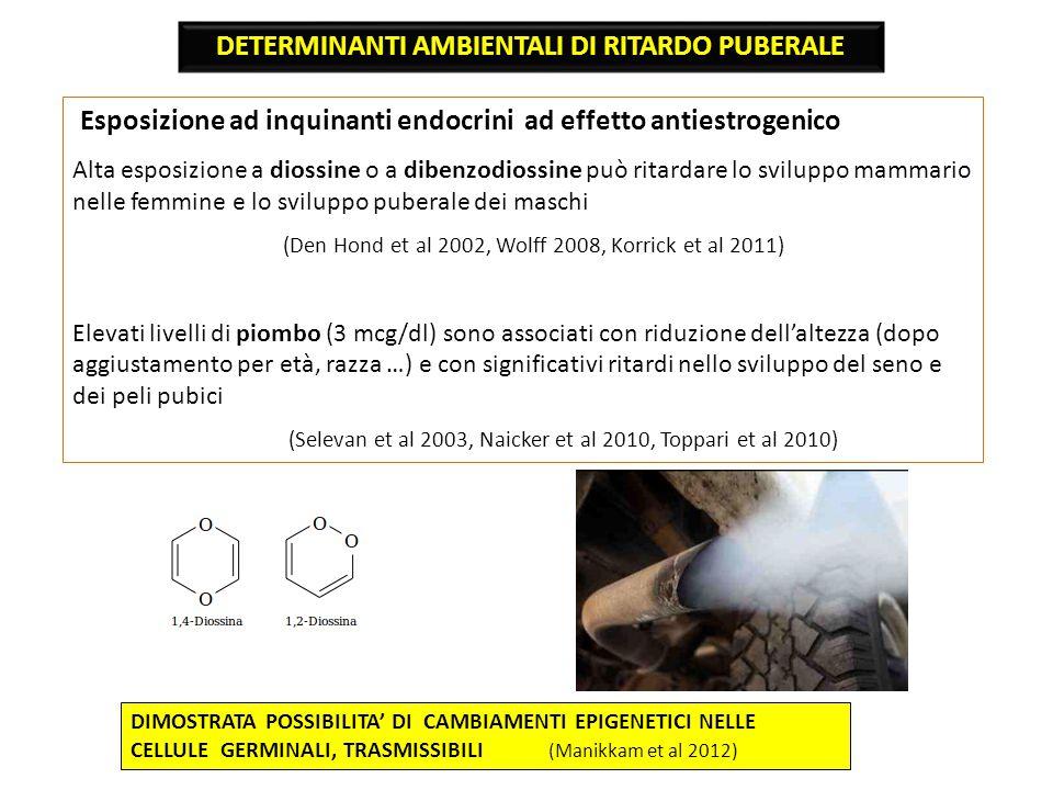 DETERMINANTI AMBIENTALI DI RITARDO PUBERALE