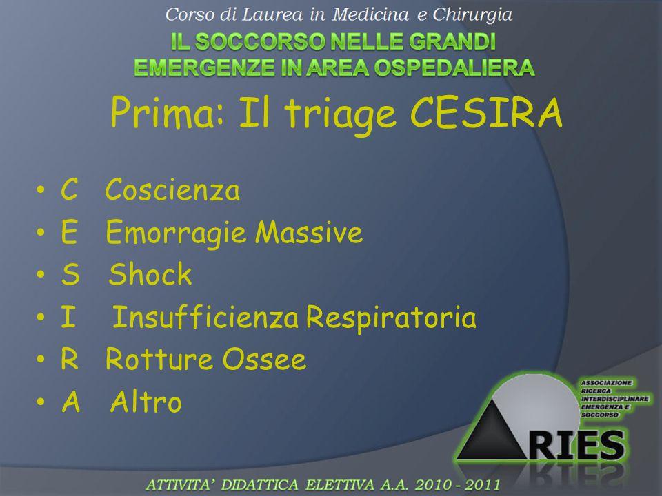 Prima: Il triage CESIRA