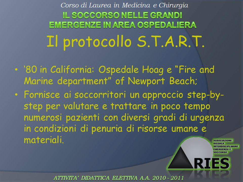 Il protocollo S.T.A.R.T. '80 in California: Ospedale Hoag e Fire and Marine department of Newport Beach;