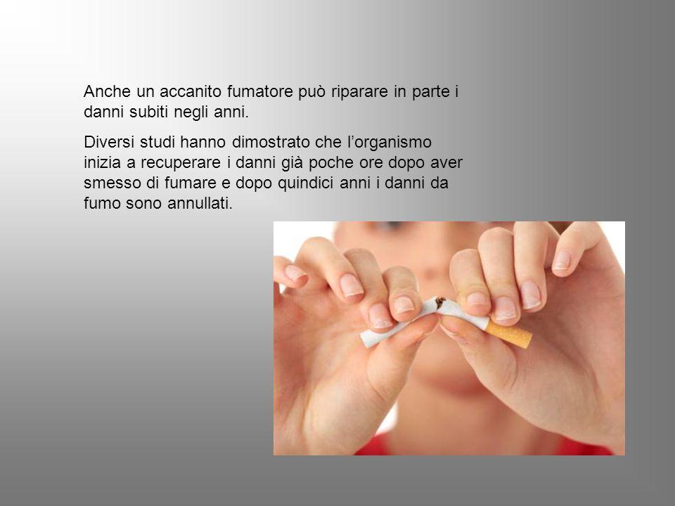 Anche un accanito fumatore può riparare in parte i danni subiti negli anni.