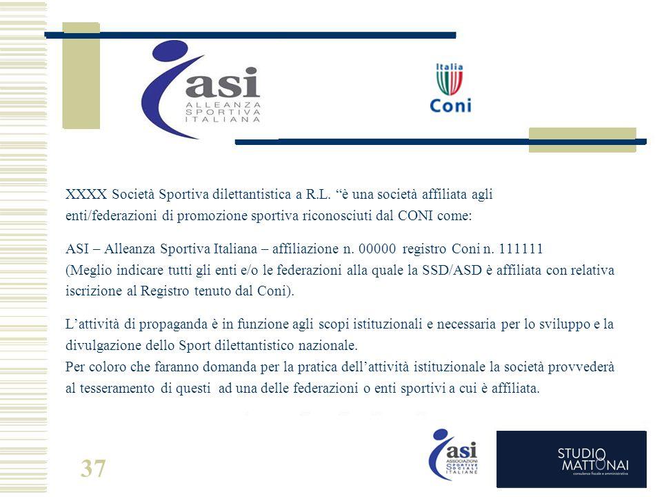 XXXX Società Sportiva dilettantistica a R. L