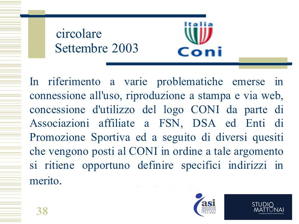 circolare Settembre 2003