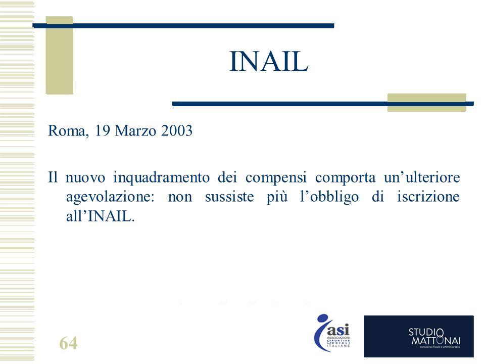 INAIL Roma, 19 Marzo 2003.