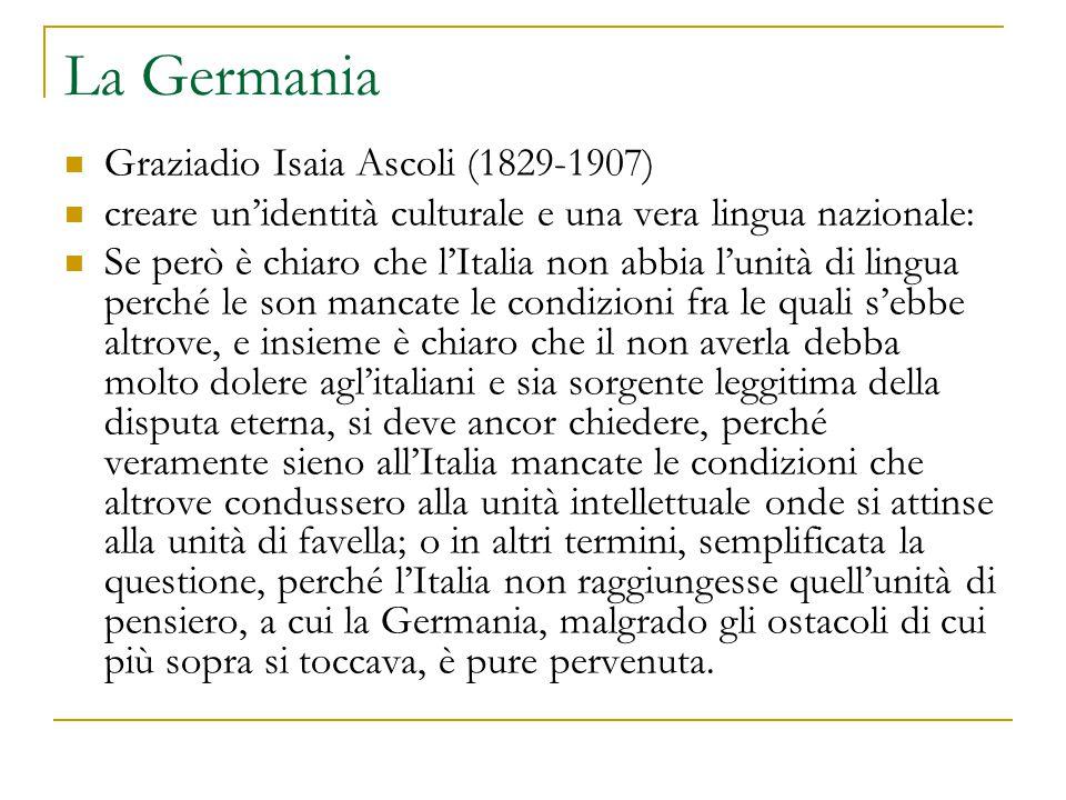 La Germania Graziadio Isaia Ascoli (1829-1907)