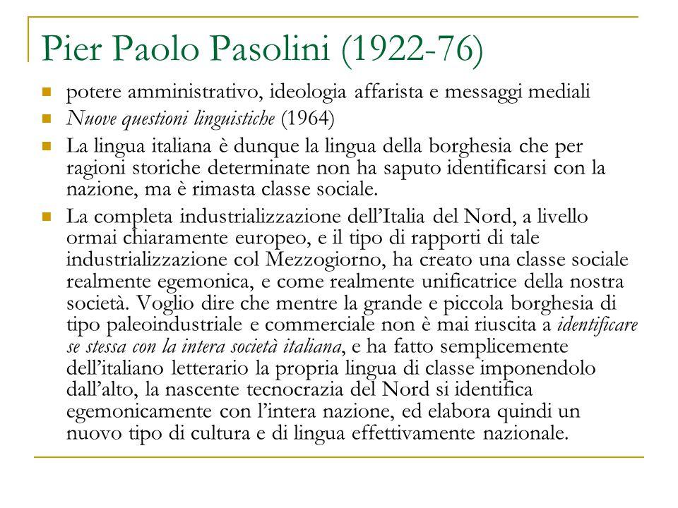 Pier Paolo Pasolini (1922-76)